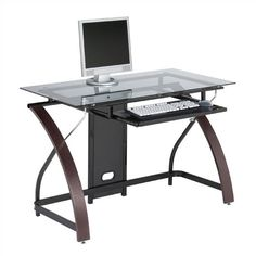 Shop AllModern for Glass Desks for the best selection in modern design.  Free shipping on all orders over $49.