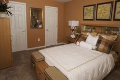 Bedroom with spacious closets