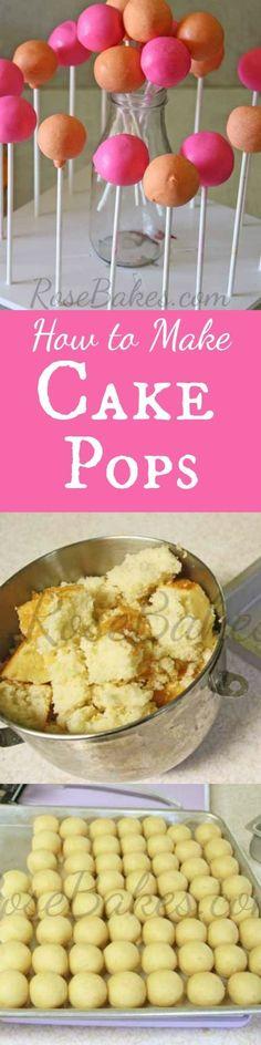 How to Make Cake Pops Tutorial | RoseBakes.com