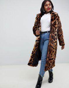 Browse online for the newest ASOS DESIGN curve maxi faux fur coat in leopard styles. Shop easier with ASOS' multiple payments and return options (Ts&Cs apply). Coats 2018, Duster Coat, Fur Coat, Devil Wears Prada, Asos Curve, Who What Wear, Faux Fur, Fashion Online, Winter Jackets