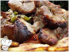 ΚΟΝΤΟΣΟΥΒΛΙ ΧΟΙΡΙΝΟ ΣΟΥΒΛΑΣ ΣΠΕΣΙΑΛ !!! - Νόστιμες συνταγές της Γωγώς! Pork, Meat, Kale Stir Fry, Beef, Pork Chops