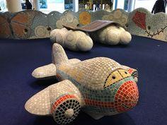 Mosaic sculptures outside Nashville airport
