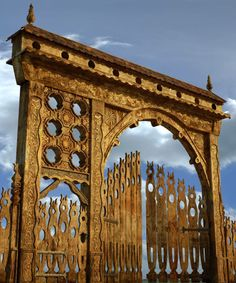 Wooden portal, very beautiful Portal, Wooden Gates, Natural Scenery, Old Farm, Budapest Hungary, Country Style, Hungarian Embroidery, Folk Art, Traditional