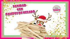IDEAS DE NAVIDAD 2019 CON PALITOS DE HELADO. RENO Reno, Snoopy, Lettering, Ideas, Crafts, Fictional Characters, Art, Paper Flower Garlands, Wooden Pallets
