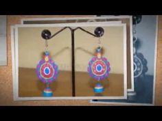 Fashion Handmade Quilling Earrings - YouTube