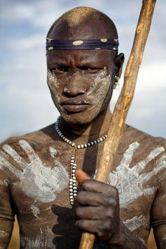 Ethiopia - Mursi warrior, Omo Valley