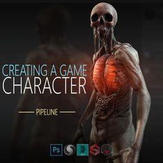 Creating a game character , Ivan Mars on ArtStation at https://www.artstation.com/artwork/Vl6Yb