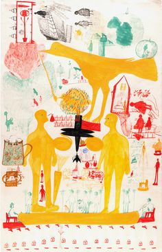 Outsider Folk Art Gallery - Outsider Art | Carlo Zinelli | CZ003