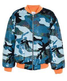 ASHISH - Sequin Camouflage Bomber Jacket