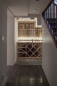 Nadire Atas on Adegas Embaixo da Escada Relish the art that we create with every wine cellar and wine rack/system design from Papro Wine Cellars & Consulting. Browse our gallery online. Spiral Wine Cellar, Cellar Inspiration, Under Stairs Wine Cellar, Home Wine Cellars, Deco Restaurant, Wine Cellar Design, Wine House, Wine Wall, Wine Glass Holder