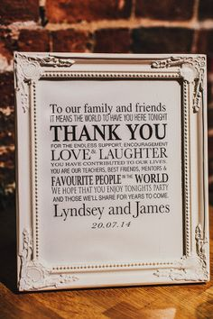 Thank You Sign | Pretty English Wedding | Steve Gerrard Photography | Bridal Musings Wedding Blog