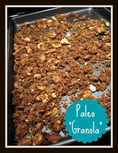 "Paleo ""granola"" - salty and sweet, only 6 ingredients, 20 minutes to make, gluten-free!"