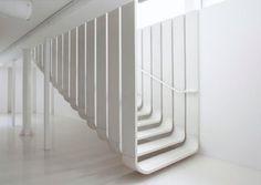 Scala dritta / in calcestruzzo / aperta / indoor Lafarge