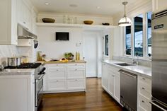 White kitchen | Beacon Hill Classic by Model Remodel, Seattle, WA