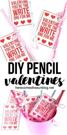 These Pencil Valentines are quick and easy to make. Perfect for kids parties. Happy Valentine Day HAPPY VALENTINE DAY | IN.PINTEREST.COM WALLPAPER #EDUCRATSWEB