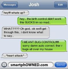 Oh, good. I'm glad for Josh it was just the bug control that didn't work.