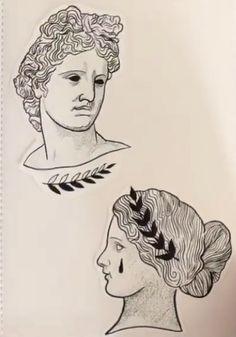 Greek goddess tattoo