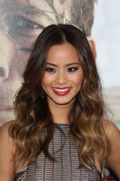 ombre highlights for dark hair !