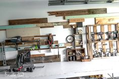 Reclaimed wood workshop wall / Part of Add Instant Character with these feature wall treatments, by Funky Junk Interiors, for ebay.com