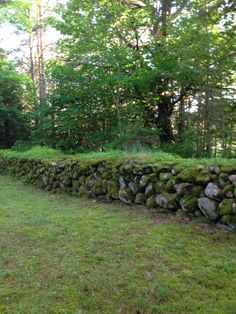 Old stone wall at Kopu cemetery