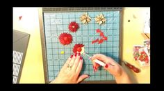 I will show you how to make flowers from the scraps you would normally throw away from your envelope punch board. So keep a pot close to hand the keep all th...