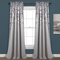 Shop for Lush Decor Weeping Flowers Room Darkening Curtain Panel Pair. Get free delivery On EVERYTHING* Overstock - Your Online Home Decor Outlet Store! Light Blocking Curtains, Room Darkening Curtains, Drapes Curtains, Curtains Kohls, Bedroom Curtains, Luxury Curtains, Modern Curtains, Drapery, Flower Curtain
