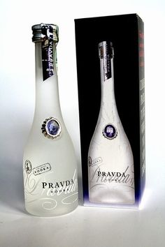 The bottle of vodka Pravda is in a transparent package or  in a black colored packaging. Easy to transport and to use because of the packaging shape and the bottle shape reminds wine bottles. The message communicated is simplicity, truth, (In slavic, Pravda means Truth) only the bottle and this single piece of jewelry is needed for this 300 years old Vodka. Experience is implicite within this brand of alcohol. The idea is to concentrate on the flavour and expertise rather than exterior…
