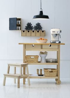 IKEA Fan favorite: FÖRHÖJA kitchen cart. Not only does this cart give you extra storage, utility and work space, its drawers can be pulled out and accessed from both sides.