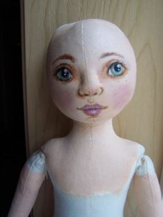 "17"" Oil painted all cloth doll body ready to finish. 3 day. SueCS"