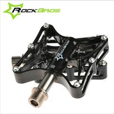 """34.19$  Buy here - http://ai6us.worlditems.win/all/product.php?id=32656972073 - """"ROCKBROS Bicycle Pedals Mountain Bike Road Bike Pedals Ultra Light Sealed Bearing CNC Steel/Titanium Axle 9/16"""""""" H6097"""""""