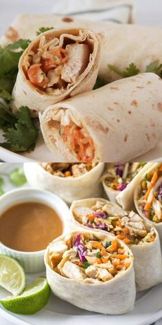 Good Healthy Recipes, Healthy Foods To Eat, Healthy Snacks, Healthy Eating, Healthy Lunch Wraps, Simple Healthy Lunch, Healthy Chicken Wraps, Healthy Tortilla Wraps, Chicken Tortilla Wraps