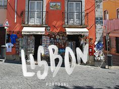 Lisbon, watercolour type on photograph