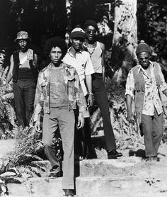 , Jamaica ~ L-R: Earl Lindo, Bob Marley, Carlton Barrett, Peter Tosh ...