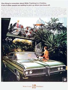 Pontiac Catalina Sedan 1968 Wide-Tracking - Mad Men Art: The 1891-1970 Vintage Advertisement Art Collection