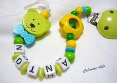 Schnullerkette+Namen+-+Maxibär+++Blume+von+Calimera-Kids+-+Schnullerketten+auf+DaWanda.com