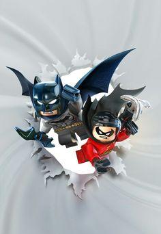 Batman and Robin lego poster - Dc comics