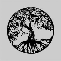 Celtic Tree of Life - LOVE this tree and especially the circle around it...maybe figure a way to adapt root system to the hamsa idea?