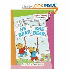 The Berenstain Bears He Bear, She Bear: Stan Berenstain, Jan Berenstain: 9780679894261: Amazon.com: Books