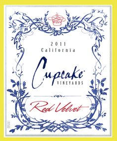 Cupcake Vineyards Red Velvet Wine - Has aromas of chocolate, blackberries, red fruits with a mocha finish and hint coconut.