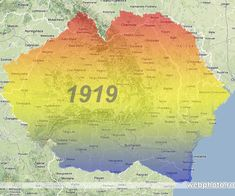 Romania in 1919 Romanian Flag, Romania Map, The Time Machine, Historical Maps, History Facts, My Images, World War I, Humor, Semper Fidelis
