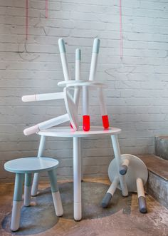 NEW COLLECTION! DIP-IN STOOLS! www.pomme-kids.com
