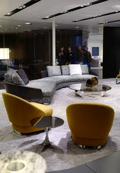 See the latest from leading Brands, Architects, Designers and Art Directors Sofa Design, Interior Design, Stand Design, Architects, Sofas, Designers, Design Trends, Table, Furniture