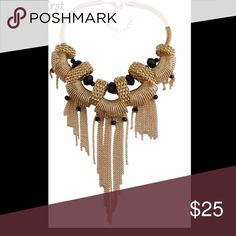 New Beautiful Gold Plated Statement Necklace Beautiful Statement Necklace Dallas Stylez Jewelry Necklaces