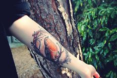 robin tattoo. by lion heart vintage, via Flickr