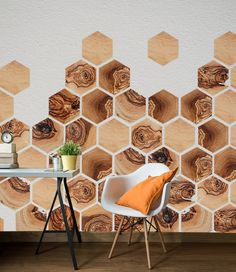 Honeycomb Canvas Wall Decal - x6 Stickers per pack