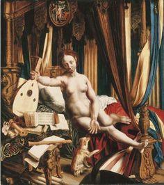 Hemessen, Jan van (1500-1566) attributed to - an allegory of love and music.jpg (512×578)