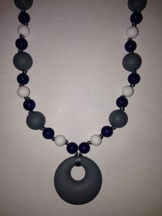 Grey/White/Black Teething Necklace $30 or 2 for $50 www.facebook.com/hootsybaby
