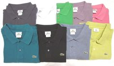 Lot of 9 Lacoste Polo Shirts 100% Cotton Sz 8  3XL Multi Color Solid