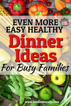 Get these easy and healthy dinner recipes to make your meal prep simpler. Find out how to cook healthy meals without spending any extra time in the kitchen. #easymeals #healthyrecipes #familymeals