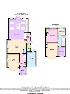 3 bed house floor plan rear extension - Google Search | kitchens ...